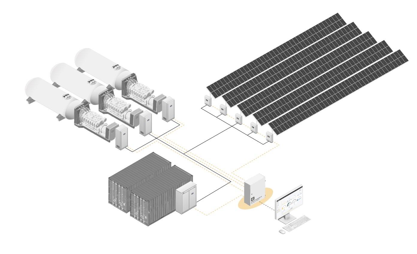 Solar-Diesel Hybrid Power System Design